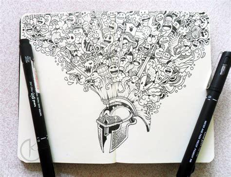 doodle warrior moleskine doodles warrior by kerbyrosanes on deviantart