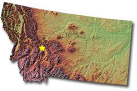 geographical map of montana united states geography for montana