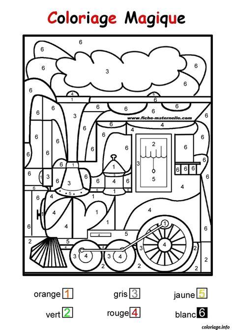 Coloriage Magique Train Facile Maternelle Dessin Coloriage Magique A Imprimer Gratuit Maternelle L