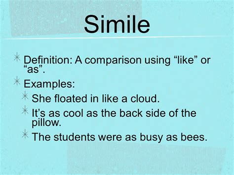 simile definition a comparison using like or as