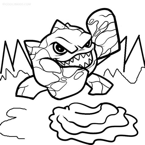 eye brawl coloring page eye brawl the skylander free colouring pages
