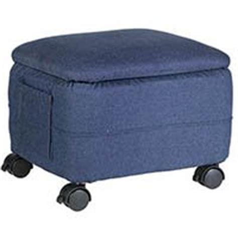 Ottoman With Wheels Denim Ottoman With Wheels