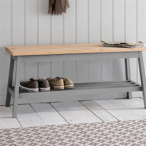 bench in hallway clockhouse hallway bench oak topped hallway bench in manor grey the farthing