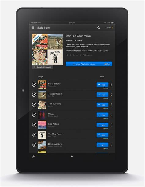 amazon kindle song prime unveiled free tunes for prime members