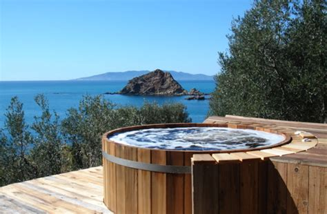 outdoor hot tub rustic hot tub by brad andersohn zillow digs zillow