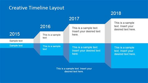 creative timeline layout for powerpoint slidemodel