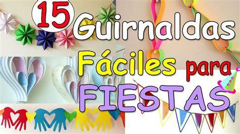 manualidades decoracion fiestas 15 guirnaldas faciles para decorar fiestas manualidades