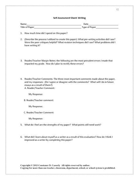 how to write a self assessment essay evaluation resume
