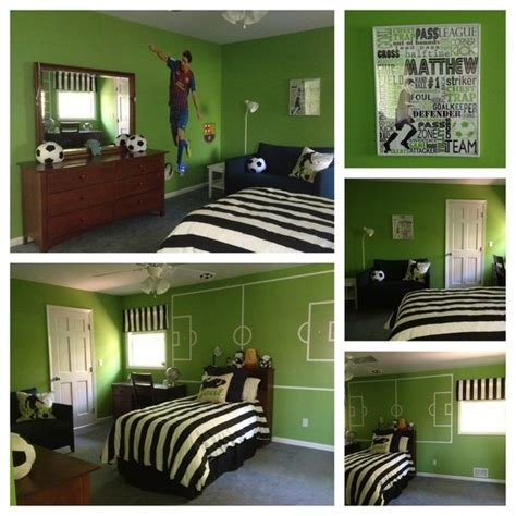 soccer bedrooms this color and mural for other walls soccer room ideas pinterest