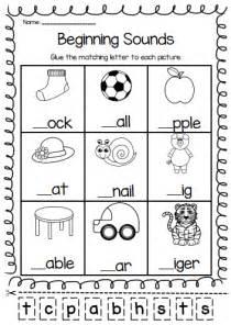 phonics for kindergarten grade k home workbook beginning sounds printable worksheet pack pre k