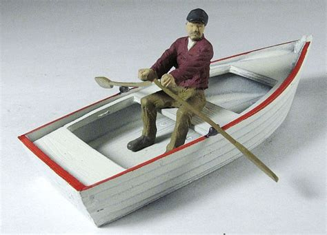 boat rowing oars o scale rowboat with oars