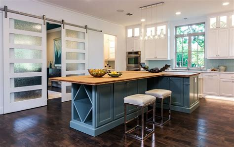 Barn Door Style Kitchen Cabinets Trendy Barn Style Doors With Frosted Glass Panels Decoist