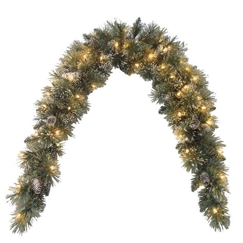 9 ft indoor pre lit glittery bristle pine artificial christmas tree martha stewart national tree company 6 ft glittery bristle pine mantel swag with clear lights