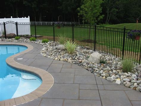 landscaping ideas around pool 1000 ideas about fence around pool on pinterest