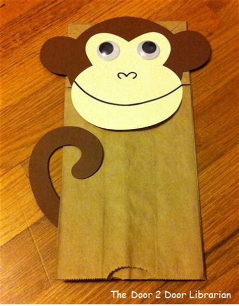 monkey paper bag puppet template 25 best ideas about monkey puppet on monkey