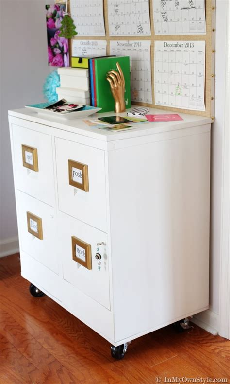 Diy File Cabinet Makeover by File Cabinet Makeover In Own Style