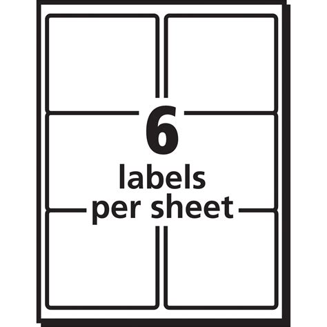 avery 6 labels per sheet template avery shipping labels with trueblock technology servmart