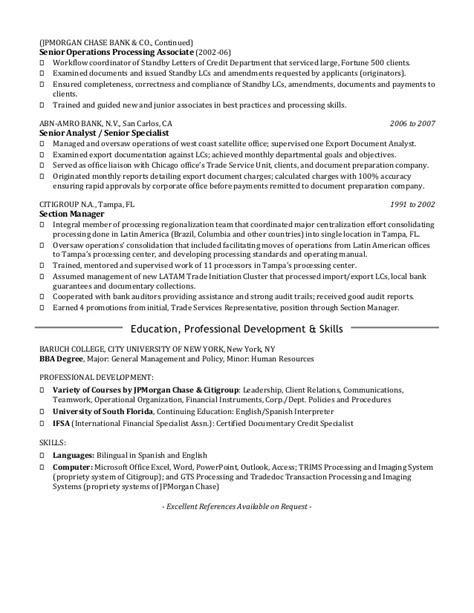 Jpmorgan Bank Letter Of Credit Resume Cover Letter Fin