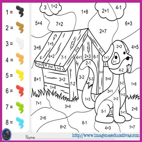 imagenes matematicas para imprimir fichas de matematicas para sumar y colorear dibujo 5 math