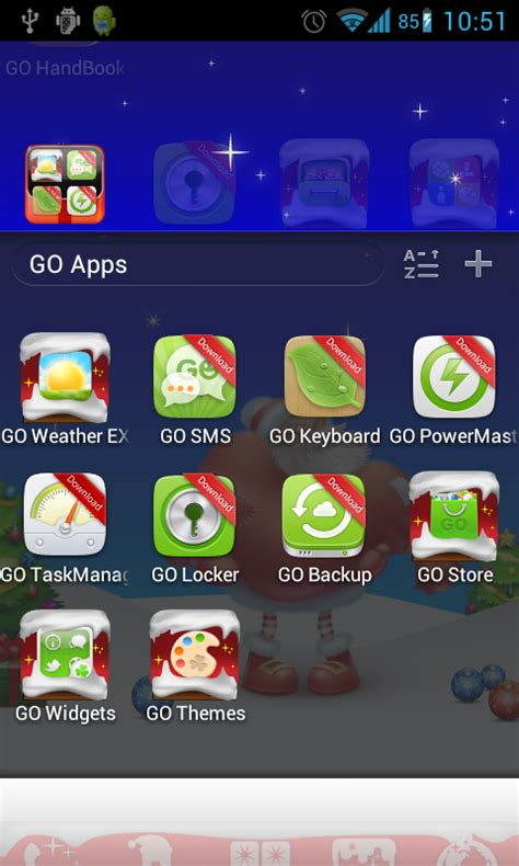 free christmas go launcher theme apk download for android