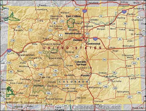 map colorado usa colorado map and colorado satellite images