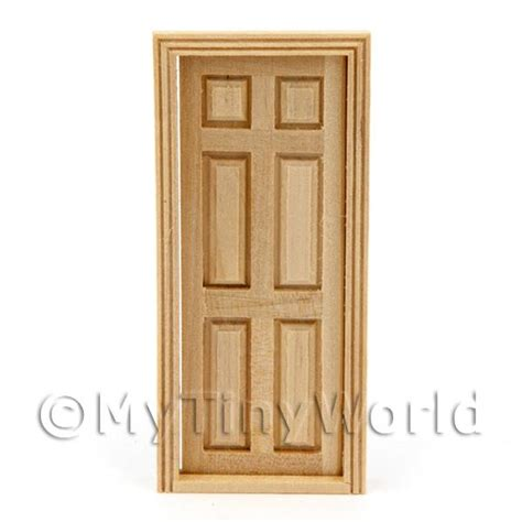 1 24th scale dolls house dolls house miniature components dolls house miniature 1 24th scale 6 panel door