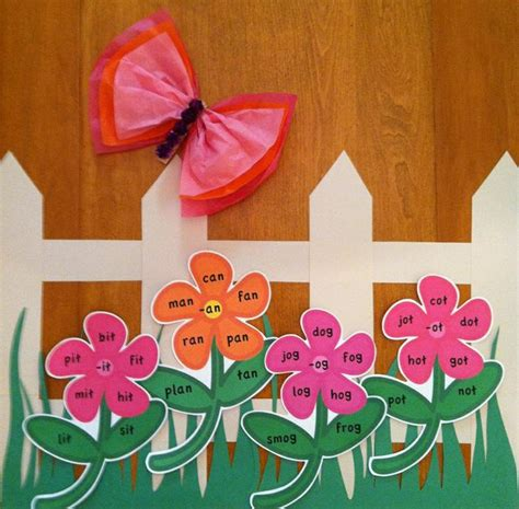 flower garden word word family flower garden interactive literacy bulletin