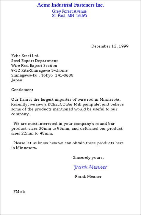 Business Letter Sle With Complete Parts invitation letter sle block style 28 images business