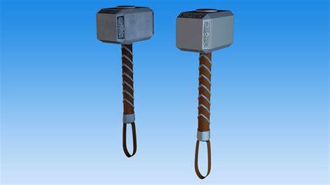 mjolnir hammer of thor wip by 3dpad on deviantart