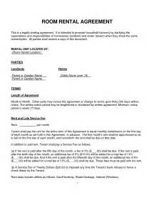 tenancy agreement template for renting a room 10 best images of basic room rental agreement form
