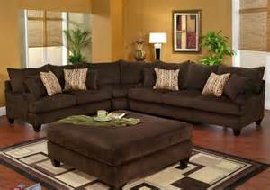 decorating ideas for chocolate brown sofas room