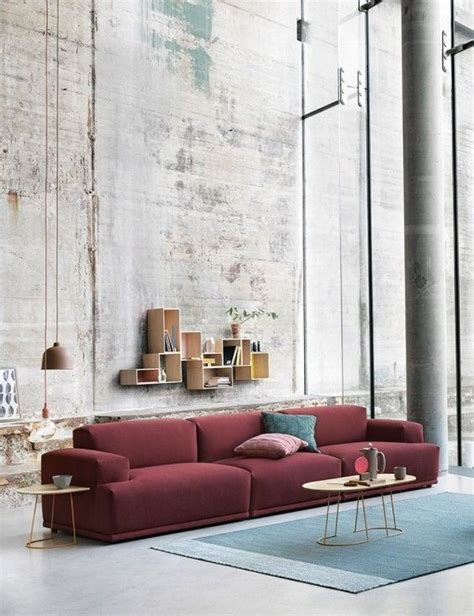wine colored couch wine color sofa by muuto 187 the design walker