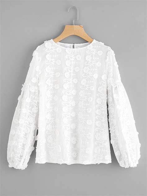 Buttoned Embroidered Jacket shop buttoned keyhole flower applique embroidered top