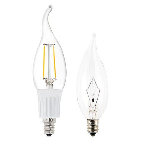 ca10 led filament bulb 35 watt equivalent candelabra led