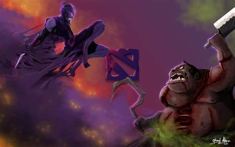 wallpaper dota 2 riki riki vs pudge 0r wallpaper hd