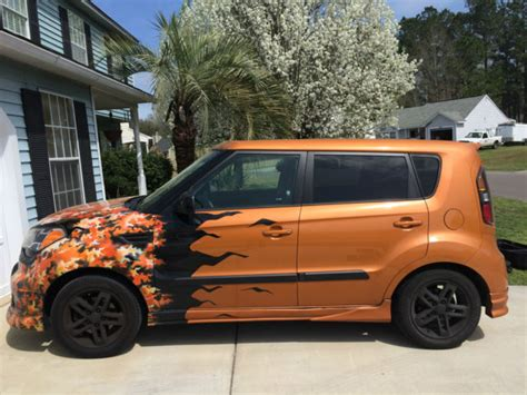 Kia Soul Custom Custom 2011 Kia Soul Orange Airbrushed Flames Sound