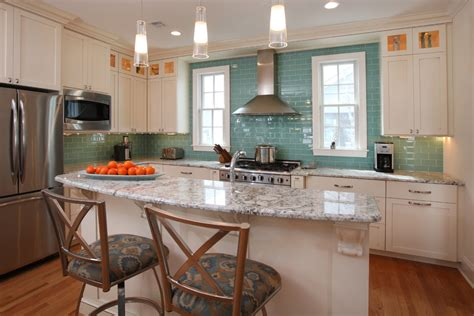 glass tile backsplash kitchen contemporary with glossy aqua glass tile kitchen contemporary with crown molding