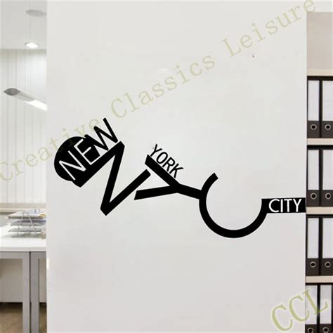 home decor new york city free shipping new york wall sticker wall decal home decor new york city in wall stickers