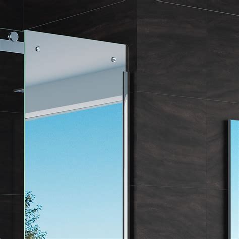 bathtub shower doors with mirror merlyn 10 series mirror sliding door with side panel