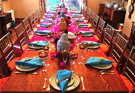 themed birthday party supplies online india indian dinner table decoration bollywood party theme