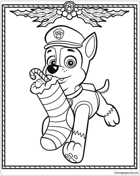 paw patrol winter coloring pages paw patrol christmas coloring page free coloring pages