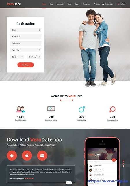 7 Best Dating Website Templates 2017 Frip In Dating Website Template