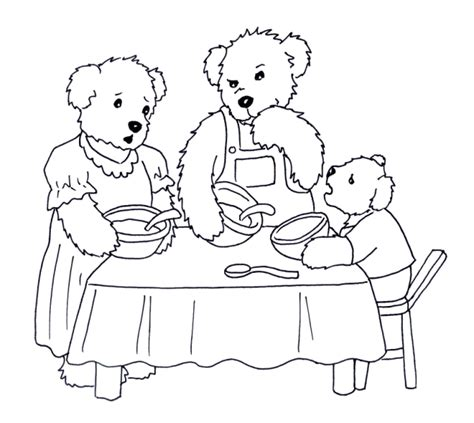 printable coloring pages goldilocks three bears three little bears coloring pages coloring pages
