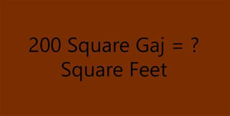 Gaj To Sq Ft by 200 Square Gaj Equal To How Many Square Simple