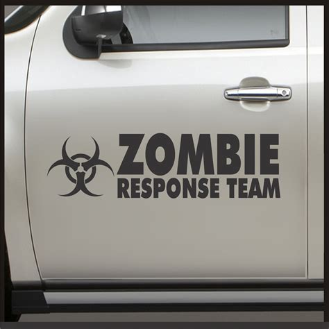 zombie jeep decals amazon com set 2 zombie response team door sticker