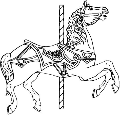 Coloring Pictures Of Carousel Horses | horse coloring pages for adults coloring home