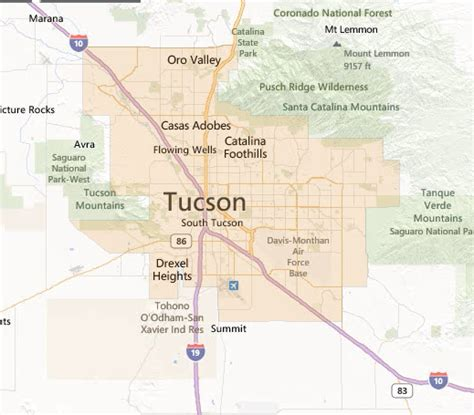 map of tucson usda loans tucson home loans 520 303 5620