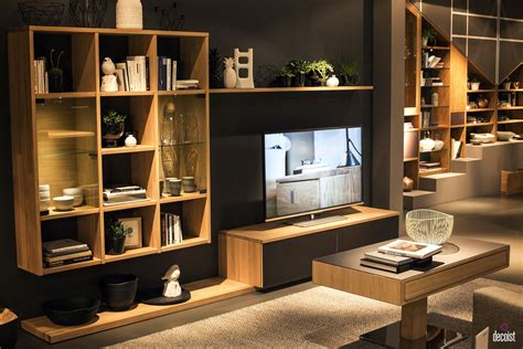 living room shelves and cabinets tastefully space savvy 25 living room tv units that wow