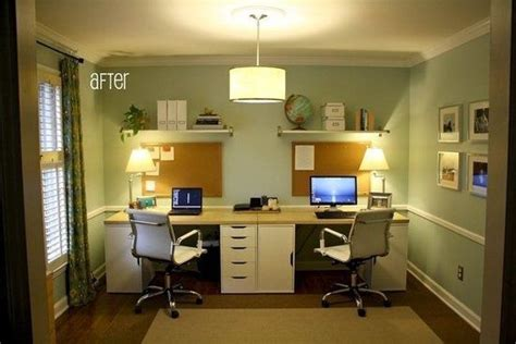 home office setup ideas home office idea diy two person desk using ikea alex