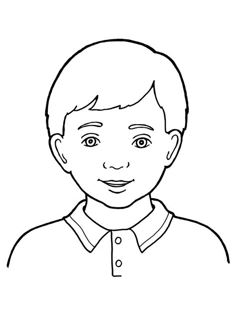 boy head coloring page head down face boy coloring coloring pages